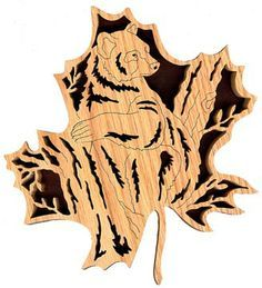 Free Fish Scroll Saw Patterns | FL127 - Forest Leaf Black Bear Pattern