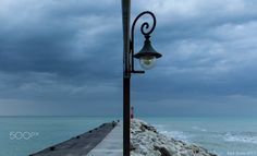 With lights off, there is only sky - Before storm... Gabicce Mare, Marche, Italy.