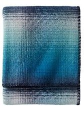 Eco-wise Ombre Plaid Wool Blanket. pendelton washable twin $129