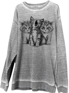 Cute cat sweatshirt from Weekday