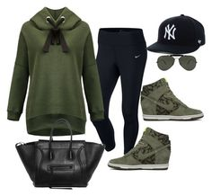 """""""af"""" by ace-finn-nyc on Polyvore featuring NIKE and Ray-Ban"""