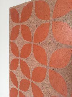 Copper retro / pasifika flower cork pinboard #pinboard #corkboard #copper #pasifika #retro