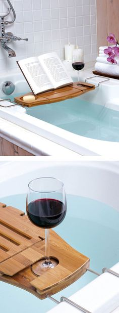 Ultimate Bath Caddy ❤︎ L.O.V.E. #relax #bathroom #spaday More