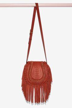 Aimee Kestenberg Genny Leather Crossbody Bag - Brown