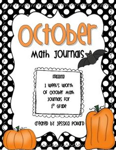 Here's a set of first grade math journal prompts for the FIFTH week in October.