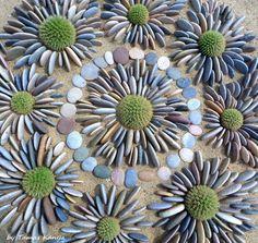 Stone art from Hungary by Tamas Kanya by on DeviantArt - Modern Design Mosaic Garden, Mosaic Art, Garden Art, Garden Crafts, Land Art, Mandala Nature, Art Pierre, Ephemeral Art, Rock Sculpture