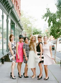 white parti, bridesmaid outfit, engagement parties