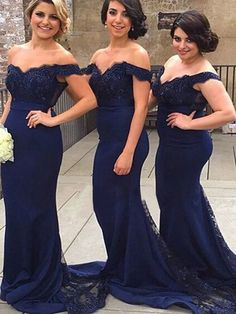 Trumpet/Mermaid+Off-the-shoulder+Floor-length+Chiffon+Prom+Dresses/Evening+Dresses+#SP7308