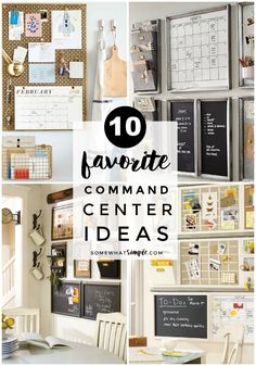 Make the perfect family command center with our helpful tips and 10 creative command center ideas! #commandcenter #commandcenterideas #homeorganization #organization #householdmanagement Family Organization Wall, Family Organizer, Organization Hacks, Organizing Ideas, Bathroom Organization, Calendar Organization, School Organization, Family Command Center, Command Centers