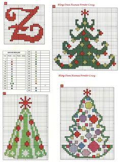 tree sapin christmas natal punto de cruz noel point de croix