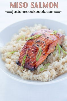 Miso Salmon (味噌サーモン) | Easy Japanese Recipes at JustOneCookbook.com