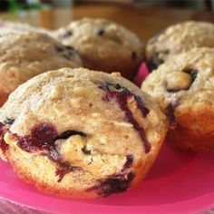 """Berry Oatmeal Muffins 