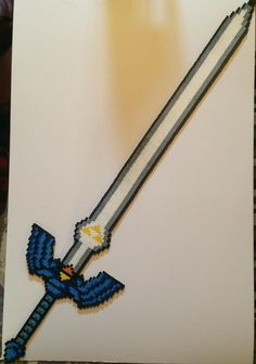 Legend Of Zelda Master Sword And Holster Perler Beads By Sborgana