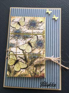 Kort / card Sommerfugl / butterflies Toppers