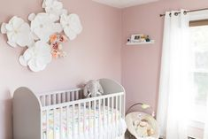Light and Bright Chic Nursery . It has the balanced shade of pink for the upcoming baby girl! . -Project Nursery - Meadoria