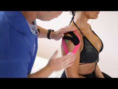 ▶ How to treat Shoulder pain - rotator cuff and bursitis with Kinesiology taping techniques - YouTube