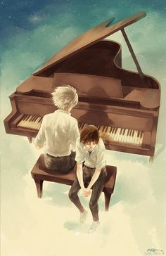 Kaworu x Shinji | via Tumblr