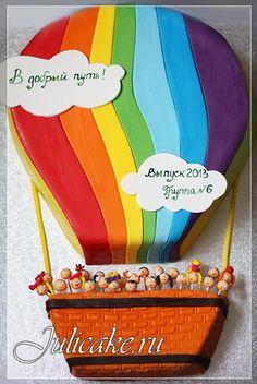 """Торт """"Воздушный шар"""" на выпускной в детский сад. Вес 4,5 кг."""