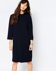 Buy it now. Just Female Ballad Shift Dress in Navy - Navy. Dress by Just Female, Smooth crepe, Round neckline, Oversized fit - falls generously over the body, Hand wash, 62% Polyester, 33% Rayon, 5% Elastane, Our model wears a UK S/EU S/ US XS and is 170 cm/5'7� tall. ABOUT JUST FEMALE Established in 2006, Copenhagen-based fashion label, Just Female, is the brainchild of designer Penille Andersen. Building a strong identity through their edgy designs, Just Female construct innovative…