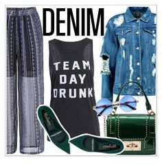 """Tear it Up: Distressed Denim"" by teoecar ❤ liked on Polyvore featuring Boohoo"