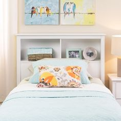 Winslow White Twin Bookcase Headboard
