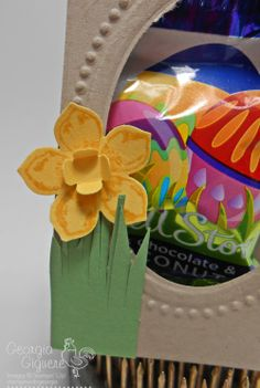 Adorable DIY Easter Favor Using the Scallop Tag Topper Punch; punch art daffodil . . . dimensions and directions on my blog!
