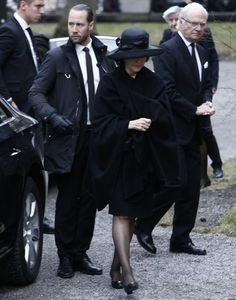 "King Carl Gustaf, Queen Silvia and Prince Carl Philip of Sweden attended the funeral service of family friend Carl Adam Göstasson ""Noppe"" Lewenhaupt held at the Hedvig Eleonora Church on March 31, 2017 in Stockholm. Carl Adam Göstasson ""Noppe"" Lewenhaupt was a Swedish businessman. Lewenhaupt was reported missing on 28 February 2017, and was found dead in the water outside Gärdet in Stockholm the next day. It is still unclear when and how he ended up in the water."