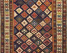 FREE SHIPPING 25% sconto Tappeto shirvan kuba stelle caucaso antico 1890-1900 circa