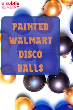 Sharing you some cool ideas for the painted Walmart disco balls. Did you know that you can grab Walmart disco balls for $10! Yes! That's right! They are also the perfect size for hanging in windows and catching the pretty afternoon sun. This pin will give you ideas on how you can decorate and paint your Walmart disco balls. Check this out! #discoballs #walmart #decoration Diy Donut Bar, Diy Donuts, Bright Paint Colors, Diy Party Hats, Funky Hats, Balloon Backdrop, Unique Wallpaper, Colourful Balloons, It Goes On