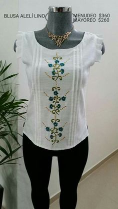 Sewing Machine Embroidery, Embroidery Neck Designs, Cute Blouses, Heirloom Sewing, Sewing Clothes, Pattern Fashion, Bodice, Couture, My Style