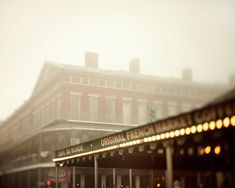 Cafe du Monde - New Orleans Photography, Fog, Coffee, Brown, Earth Tones, French Quarter