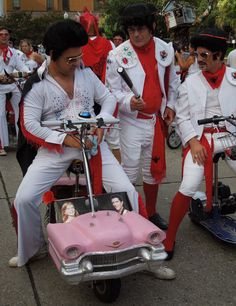 Pink Cadilac and the Krewe of the Rolling Elvi at San Fermin 2012 in New Orleans