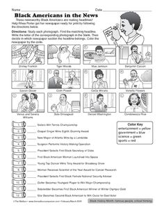 Black History Month Worksheet: famous African Americans   Black ...