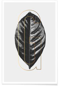 Plants G en Affiche premium par typealive | JUNIQE