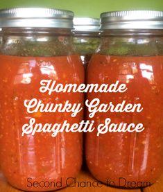 Second Chance to Dream: Homemade Chunky Garden Spaghetti Sauce #gardenfresh
