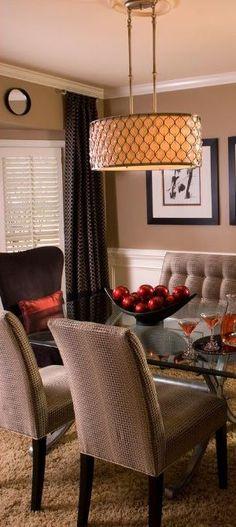 Dining Room Ideas | charisma design\ Available at Mayer lighting Showroom www.mayerlighting.com