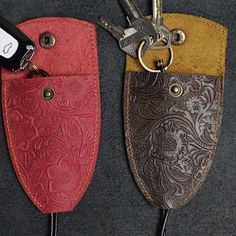 Handmade Leather Floral Mens Cool Car Key Wallet Coin Wallet Pouch Car KeyChain for Men : Handmade Leather Floral Mens Cool Car Key Wallet Coin Wallet Pouch Car – iChainWallets Leather Accessories, Leather Jewelry, Leather Purses, Leather Bags, Leather Men, Leather Key Holder, Leather Keychain, Key Keychain, Leather Gifts