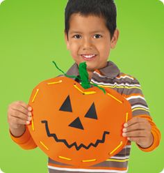 Set the scene for Halloween fun…with a delightful Jack-O'-Lantern kids will love to display