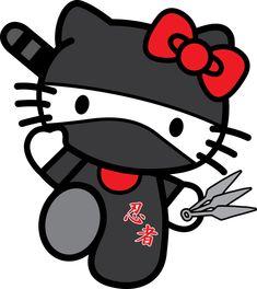 Ninja Hello Kitty by on deviantART Hello Kitty Fotos, Hello Kitty Cartoon, Hello Kitty Imagenes, Hello Kitty Art, Ninja Cats, Hello Kitty Pictures, Kitty Images, Epilepsy Awareness, Miss Kitty