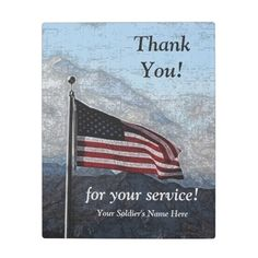 Military Thank You Plaque by HonorMilitary