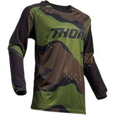 NWT thor Terrain Camo Jersey on Mercari Thor Mx, Motocross Enduro, Moto Pants, Mens Gear, Riding Gear, Sport Wear, Motorcycle Jacket, Camo, Black And Grey