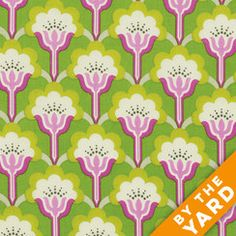 FreeSpirit True Colors by Heather Bailey - Green Floral - By the Yard