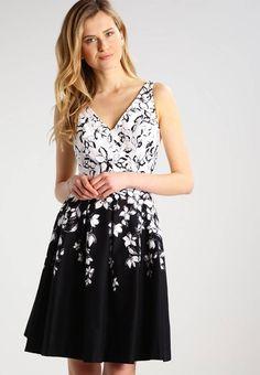 MARIETTA - Vestito elegante - black/grey/multi. #vestiti #moda #fashion #estate #summer Lunghezza:Corto. Lunghezza manica:Senza maniche. Altezza del modello:La persona nella foto è alta 180 cm e veste una taglia 40. Fodera:85% Poliestere, 15% cotone. Composizione:98% cotone, 2% elasta...