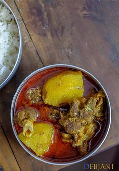 Mangshor jhol aka Bengali Mutton Curry recipe step by step with pictures Goat Recipes, Veg Recipes, Curry Recipes, Indian Food Recipes, Chicken Recipes, Cooking Recipes, Ethnic Recipes, Salmon Recipes, Bangladeshi Food