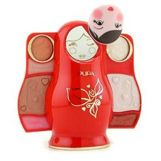 Make Up Set: Small Puposka - Blue: Compact Eyeshadow Glitter-Packed Cream Lipcolour Ideal both for personal use & as a gift Matryoshka Doll, Makeup Quotes, Wooden Dolls, Eyeshadow, Make Up, Image, Hair, Crafts, Blue