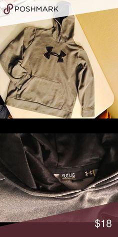 Under Armour Storm Youth Large Gray/Black hoodie EUC UA Storm Logo hoodie. Dark gray with black logo. Under Armour Shirts & Tops Sweatshirts & Hoodies