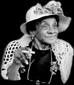 "March 1894 Loretta Mary Aiken (Jackie ""Moms"" Mabley), stand-up comedienne, was born in Brevard, North Carolina. At the age of Mabley ran away to Cleveland, Ohio with travelling minstrel show where she began singing and entertaining. Black Actors, Black Celebrities, Celebs, Mocha, Minstrel Show, Black History Facts, African American Women, African Americans, African American History"