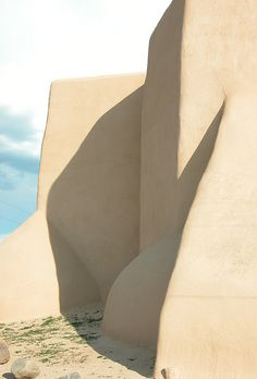 Taos old church, New Mexico, USA. Made famous by Georgia O'Keeffe in her paintings