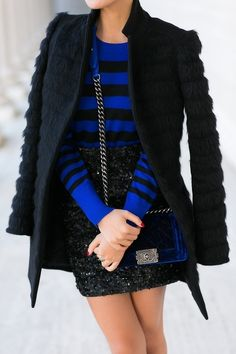 Make some room for eye-popping colors in your wardrobe, like bright cobalt and electric blues.
