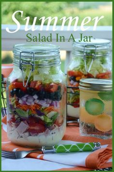 SUMMER'S BEST SALAD... IN A JAR!  Hit up the farmers market and eat up!!  #BHGSummer